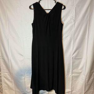 DKNY midi black dress NWT